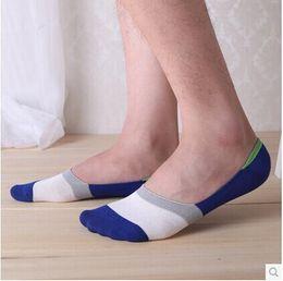 Wholesale Invisible Socks Anti - Wholesale-Free Shipping big size7pairs lot male INVISIBLE BAMBOO FIBER summer men socks man's anti-slip Boat sock slippers shallow