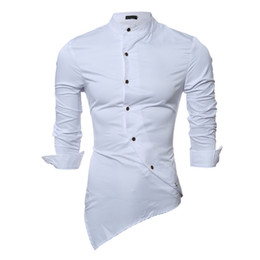 new original products Promo Codes - Wholesale- 2016 new products selling men's leisure oblique button shirt joker personality shirt business shirts with original design