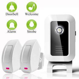 Wholesale Shop Entry Door Bells - Welcome device Shop Store Home Welcome Chime Wireless Infrared IR Motion Sensor Door bell Alarm Entry Doorbell Reach 150m