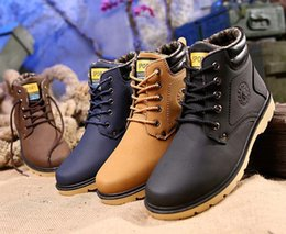 Wholesale Mens Waterproof Boots 39 - hot!Super Warm Men's Winter Pu Leather Ankle Boots Men Autumn Waterproof Snow Boots Leisure Martin Autumn Boots Shoes Mens 39-45
