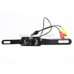 Wholesale Led Car Frame Plate - Free Shipping Waterproof License Plate Frame Camera,Night Vision Car Camera Car Parking Camera for Rearview with 8 IR LED lights
