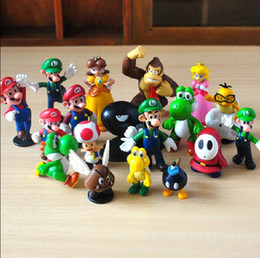 Wholesale Mario Bros Resins - Super Mario Bros yoshi Figure dinosaurand roid watchtoys Figure play 18style 1lot