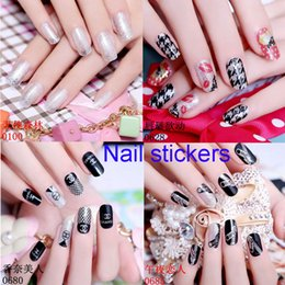 Wholesale Tattoo Stickers For Nails - Nail Art Sticker Nails Beauty Wraps Foil Polish Temporary Tattoos Nail Sticker Decal Tip Nail Art Manicure Mix Color For Nail Decoration