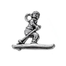 Wholesale Antique Skis - Skiing Charms fashion antique silver plated charms 50 pcs A lot