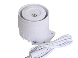 Wholesale Security Alarm Horns - Wholesale- High Decibel Wired Siren Indoor Horn For Home Office Security Alarm System GSM with 3.5mm Plug Connector