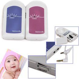 Wholesale Doppler Gel - FDA CE Proved Pocket Pregnant Fetal Doppler Baby Sound A + Free Gel Baby Heart Monitor Ultrasound Detector Fetal