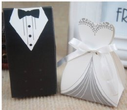 Wholesale Gift Paper Box Doll - 2016 cheap Wedding favor Boxes Groom &Bride Papery 100pecs  Lot Special European style Wedding Party Favors For Wedding Gust Gifts