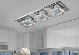 Wholesale Ceiling Fitting Led - BE60 Modern LED Diamond Crystal Ceiling Light Fitting Lustres Crystal Lights Lamp for Hallway Corridor Living Room Kitchen