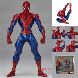 Wholesale Spiderman Models Kids - Spider-Man: Homecoming The Amazing Spiderman Movable joint 7 kinds PVC Spiderman 18cm Toy for kids gift MC Iron man Hand to do model