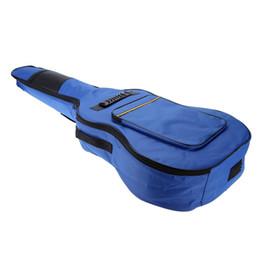 """Wholesale Guitar Case Blue - 41"""" Guitar Backpack Shoulder Straps Pockets 5mm Cotton Padded Gig Bag Case blue"""