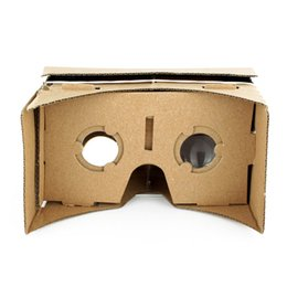 Wholesale Virtual Movies - New DIY Google Cardboard 3D Glasses Ultra Clear Virtual Reality VR Mobile Phone Movie Game 3D Viewing Google Glasses Wholesale