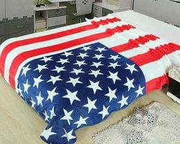 Wholesale Wholesale Throw Blankets Uk - 50PCS New Union Jack British UK flag flanne home travel blanket on bed, 150CMX200CM throw, US flag blankets LA33-7