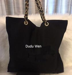 Лучший saleing ~ Shopping Canvas Bag с цепочкой luxury Travel Bag женщины косметический чехол для хранения мода холст пляжная сумка от Поставщики косметика для путешествий