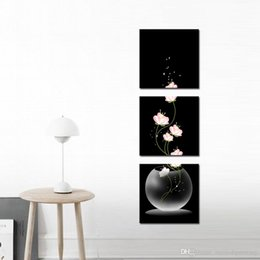 Wholesale Canvas Beautiful Flower Paint - Night Beautiful Still Life Oil Paintings the Flowers 4-Pieces Landscape for Living Room Home and Wall Decoration