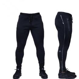 Wholesale Boys Sweat Pants - Wholesale-Male Fitness Pants Sweat Pants Men Gym Aesthetics Pan Sport Wear For Runners Gray Clothing Thin Jogging Sweat Trousers Boys