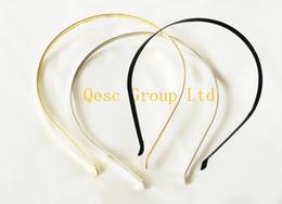 Wholesale 5mm Metal Headband Wholesale - 5mm metal headband,ideal for sinamay fascinator wedding accessories,black gold silver color