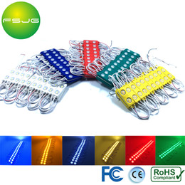 Wholesale Translucent Led - Wholesale- Translucent Lens Led Modules Light 5730 Waterproof IP65 Red Blue Green Cold White Warm white Yellow Led 2led pcs DC12V 20pcs lot