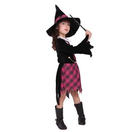 Wholesale Wholesale Show Girl Clothing - 2015 New Halloween Cosplay costumes Children's Performing cos female models student witch magic show clothing suits A070249