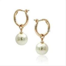 Discount black pearl earring mm - 2016 new beautiful 10-11 MM AAA+++south sea white PEARL EARRING 14K YG MARKED