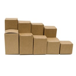 Wholesale 13 Jar - 50pcs lot 5*5*4-13(H)cm Natural Kraft Paper Box Gift Candy Boxes Wedding Boxes Cosmetic Jar Packaging Boxes Party Supplies