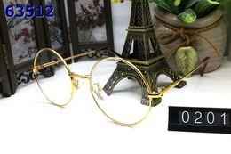 espejo enmarcado en plata ovalada Rebajas Accesorios de moda Espejo de lujo Diseñador de la marca Gafas de sol gafas de sol de cuerno de búfalo con caja original círculo redondo marco de oro plata