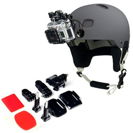 Wholesale Gopro Adhesive Mount Accessories - For GoPro New Adjustment Curved Adhesive Helmet Front Side Mount kit For Gopro Hero 5 4s 4 3+3 2 1 sj4000 5000 xiaomi yi Accessories GP19