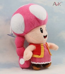 Wholesale Toadette 17cm - Free Shipping 17cm toadette Stufffed Dolls Super Mario toadette Plush Toy Soft Toy For Girl Brithday Gift Retail 1pcs