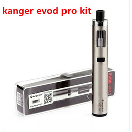 Wholesale Ecig Pro - Kanger Evod Pro Starter Kit Top Fill Mouth with 4ml tank All in One Design support 18650 battery mod vapor ecig