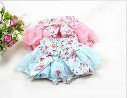 Wholesale Pettiskirt 5t - baby girl kids pettiskirt tutu skirt cotton vintage flower floral short pants shorts legging bloomers pajamas PJ'S layers fluffy costumes 5p