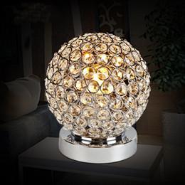 Wholesale Chrome Crystal Wall Lights - Modern Chrome Crystal Bedside Table Lamp Bedroom Light Table Lamp novelty lighting fixtures for bedroom study room