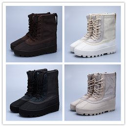 Wholesale Best Hot Chocolate - Wholesale Pirate Black Moonrock Chocolate Duck 950 Boots Season 1 Hot Kanye West Boost Casual Shoes Best Quality Wholesale Size US 5.5 12
