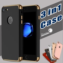 Wholesale Iphone Cases Part - 3 in 1 Stylish Ultra-thin Slim Hard Case with 3 Detachable Parts for Apple iPhone 7 6 6S Plus Samsung S8 S7 edge