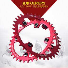Wholesale Crankset Parts - Wholesale-32 34 36T FOURIERS E1 MTB Crankset Chainwheel Chaining Aluminum Alloy BCD96 Repair Bicycle Part Bielas Bicicleta Gear Pedivela