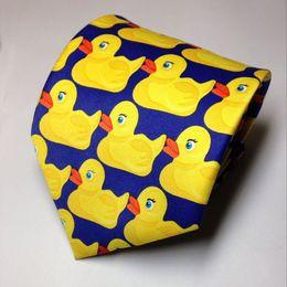 Wholesale Men Wide Neck Ties - Hot Sale High Quality Barney's How I Met Your Mother Ducky Tie Yellow Rubber Duck Necktie Designer Free Shipping