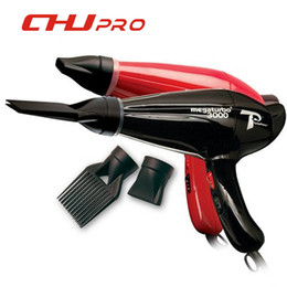 Wholesale Ac Hot Air - Wholesale-CHJPRO Mega 3000 Power Hair Dryer 110V or 220V Blow Styling Tools Secador De Cabelo Comb Nozzle Hours AC Turbo Motor Hair Beaty