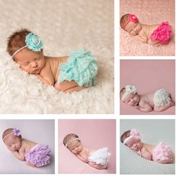 Wholesale Children S Clothes Tutus - Baby Girs Lace Tutu PP Pants Children Summer Cloth Multi-color Photo Clothing Underpants Cotton Cloth Lace Bloomers Diapers