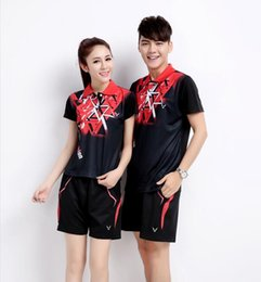 Wholesale Sports Skirt Tennis - New 2016 Table tennis serve authentic quick-drying short sleeve T-shirt Han edition fitness sport suit skirt Badminton Wear Sets