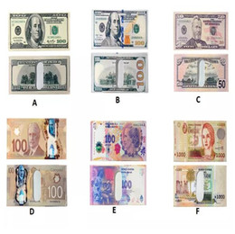 Wholesale Various Cartoon - Various Countries Paper Money Wallet Fashion Men Dollar Purse Wallet Card Holders Children Kids Gift CCA8004 50pcs