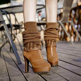 Wholesale European Buckle Boots - European Fashion Winter Warm Boots casual Sweet Knee-high Boots stilettos High Heel Jackboot three Tees