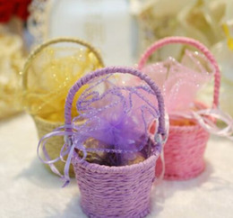 Produtos de doces on-line-Caixa de Doces De Mel Europeu Doces Caixa Cesta De Casamento Portátil Produtos de Casamento Suprimentos Caixa De Doces