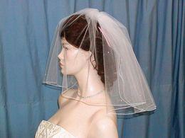 Wholesale Bridal Swarovski Veil - 2016 New Best Selling Luxury Real Image Veils Two Layer Shoulder Length Bridal Veil Pearls Swarovski Rhinestones Veil Bridal Accessories