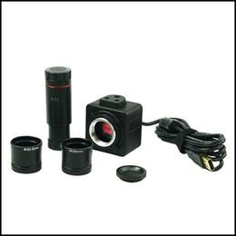 Wholesale Digital Eyepiece - Freeshipping 5MP USB Digital Microscope Electronic Eyepiece Camera Image Video Saving  Adapter for Stereo Biological Microscope