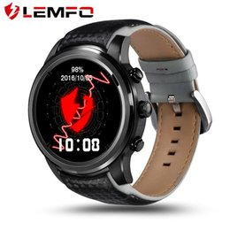 Wholesale Screen For Gps - LEM5 3G Smart Watch 1.39 inch 400*400 screen Android 5.1 support SIM Card Bluetooth WIFI GPS Heart Rate