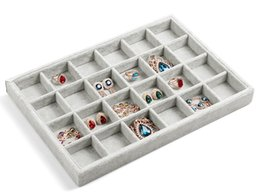 Wholesale Wooden Earrings Studs - Hot selling 35*24 Jewelry Display Rings Organizer Show Case Holder Stud Earrings Earring Ring Storage Accessories Box