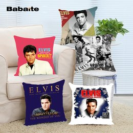 Wholesale 18x18 Pillow Cases - Free Shipping Hot Elvis Presley Throw Pillow Cover 18x18 Inch Two Side Pillow Case