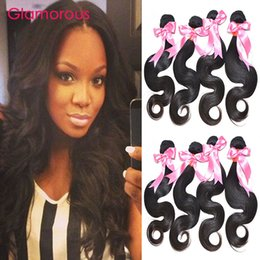 Wholesale Real Virgin Unprocessed Hair - Glamorous High Quality Virgin Human Hair 4 Bundles 100% Real Human Hair Weaves Unprocessed Brazilian Malaysian Indian Body Wave Hair Weft