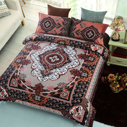 Wholesale Ice Cream Machines - muchun Brand Ethnic Style Bedding Sets 4 pcs Bedding Comforter Set Duvet Covers Bohemia Style Printing Bed sheet Home Textiles