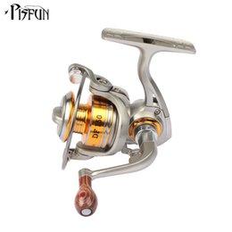 Wholesale Spinning Reel 3bb - Hot sale DF150 Spinning Reel 5.2:1 3BB Mini Fishing Reel Metal Mini Water Wheel Left Right Interchangeable Carp Reels
