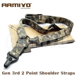 Wholesale Sling Point - Armiyo Tactical Gen 3rd 2 Point Airsoft Multi Mission Gun Sling Hunting Shoulder Strap ACU for Hunter Hunting