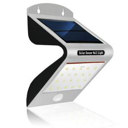 bewegungssensor design Rabatt Wasserdichte Outdoor-Sicherheitssicherheit im Freien Solar-Bewegungssensor LED-Licht Integriertes Design des PIR-Bewegungssensors und des Nachtsensors